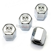 Dodge Ram Logo Chrome ABS Tire Valve Stem Caps