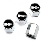 Hummer H2 Logo Chrome ABS Tire Valve Stem Caps