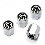 Mercury Ford Cougar Logo Chrome ABS Tire Valve Stem Caps