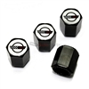 Chevrolet Corvette C4 Logo Black ABS Tire Valve Stem Caps