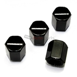 Hummer Logo Black ABS Tire Valve Stem Caps