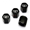 Chrysler 300 Hemi C Logo Black ABS Tire Valve Stem Caps