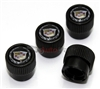 Cadillac Color Wreath Logo Black ABS Tire Stem Valve Caps