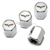 Chevrolet Corvette C5 Logo Chrome ABS Tire Valve Stem Caps