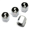 Ford Mustang Cobra Shelby Logo Chrome ABS Tire Valve Stem Caps