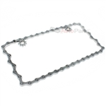Chain Design Chrome Metal License Plate Frame