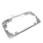 Frog Design Chrome Metal License Plate Frame