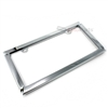 Cross Chrome Metal License Plate Frame