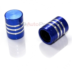 Blue Billet Aluminum Tire Valve Stem Caps