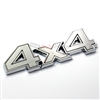 Chrome & Gray 4x4 Stick On Emblem