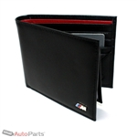Genuine OEM BMW M Logo Bifold Black Leather Wallet