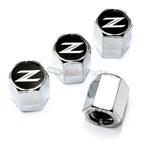 Nissan 370Z Logo Chrome ABS Tire Valve Stem Caps