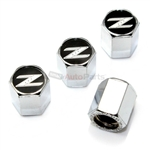 Nissan 350Z Logo Chrome ABS Tire Valve Stem Caps