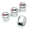 Chevrolet Corvette C3 Logo Chrome ABS Tire Valve Stem Caps