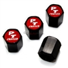 Chrysler PT Cruiser Red Logo Black ABS Tire Valve Stem Caps