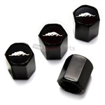 Plymouth Prowler Logo Black ABS Tire Valve Stem Caps