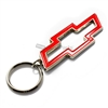 Chevy Red Bowtie Chrome Keychain