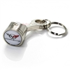 Chevy Corvette C5 White Logo Piston Shape Key Chain