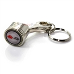 Chevy Corvette C1 White Logo Piston Shape Key Chain
