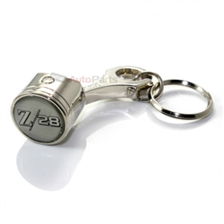 Chevy Camaro Z28 Logo Piston Shape Key Chain
