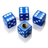 Blue Dice Tire Valve Stem Caps