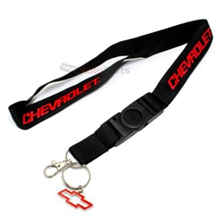 Chevy Bowtie Logo Lanyard and Key Chain