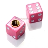 Pink Dice Tire Valve Stem Caps