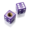 Purple Dice Tire Valve Stem Caps