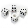White Dice Tire Valve Stem Caps