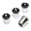 Acura Black Logo Chrome Tire Valve Stem Caps