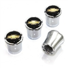 Chevy Logo Chrome Tire Valve Stem Caps