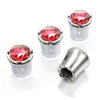Dodge Viper Red Logo Chrome Tire Valve Stem Caps
