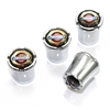 Chrysler Logo Chrome Tire Valve Stem Caps