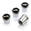 GMC Black Logo Chrome Tire Valve Stem Caps