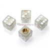 Clear Glitter Dice Tire Valve Stem Caps