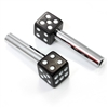 Black Dice Car Door Lock Knobs