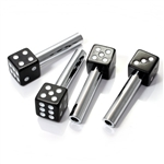 (4) Black Dice Car Door Lock Knobs