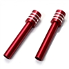 Red Billet Aluminum Car Door Lock Knobs