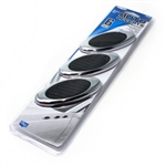 Chrome Round Design Fenders Mesh Stick-On Vents