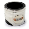 Chevy SS Fire Flames Logo Piston Shaped Can Cooler