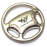 Chevrolet Corvette C5 Logo Metal Steering Wheel Shape Car Key Chain Ring Fob
