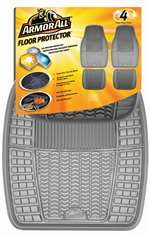 4 Armor All Gray Rubber All-Weather Interior Floor Mats Set for Auto-Car-Truck