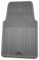 1 Premium Gray All-Weather Rubber Interior Front Floor Mat for Auto-Car-Truck