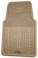 1 Universal Tan All-Weather Rubber Interior Front Floor Mat for Auto-Car-Truck