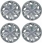 "15"" Premium Car Chrome Shiny Wheel/Rim Hub Caps Covers - Set of 4"