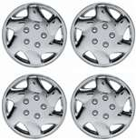 "15"" Premium Car Chrome Wheel/Rim Hub Caps Covers w/Bolt Nuts - Set of 4"