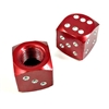 2 Premium Red Burgundy Dice Tire/Wheel Air Stem Valve Caps for Motorcycle-Bike