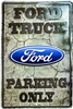 "Ford Logo Truck Parking Only Large 12"" x 18"" Metal Garage Novelty Sign"