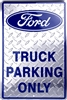 "Ford Logo Truck Parking Only Blue Large 12"" x 18"" Metal Garage Novelty Sign"