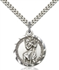 Pendant Christopher Round w/ 24-in Chain